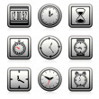 Royalty-Free Stock : Vector clock and time symbols