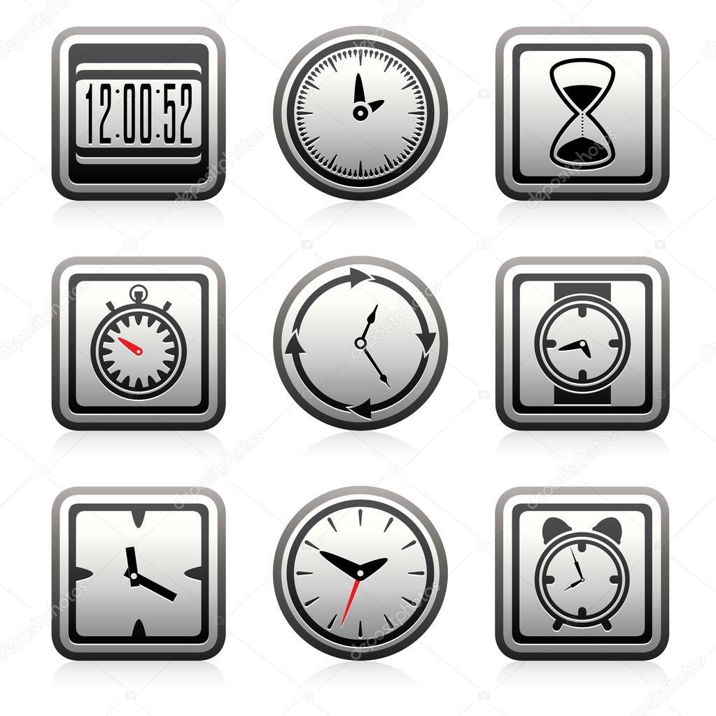 矢量时钟和时间符号