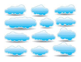 Vector collection of clouds — Stock Vector