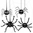 Vector spiders and web — Stock Vector