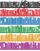 Vector books on bookshelf — Stock Vector