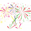 Stock Vector: Vector fireworks background