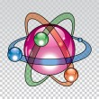 Vector nuclear atom icon  — Stock Vector