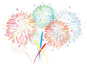 Vector abstract fireworks background — Stock Vector