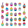 Vector cupcakes icons — Stock Vector #29124801
