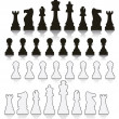 Vector set  chess symbols — Stock Vector