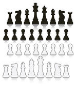 Vector set chess symbols — Stock Vector