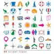 Vector set of  travel icons — Stock Vector