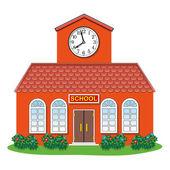 Vector country school building — Stock Vector