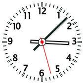 Illustrazione vettoriale del quadrante orologio — Vettoriale Stock