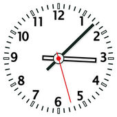 Vector illustration of clock face — Stock Vector