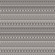 Vector black and white dashed lines seamless pattern — Stock Vector