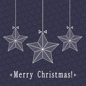 Vector christmas card design with stars — Stock Vector