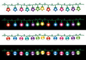 Vector christmas electric light lamps — Stock Vector
