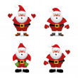 Vector santa claus set — Stock Vector