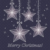 Vector tarjetas de navidad con estrellas — Vector de stock