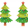 Vector  christmas tree set — Stock Vector