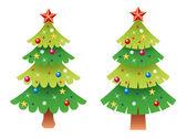 набор векторных рождественская елка — Cтоковый вектор