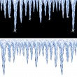 Vector shiny icicles — Stock Vector