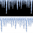 Vector shiny icicles  — Stockvektor