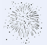 Vector fireworks with stars and sparkles — Stock Vector