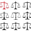 Vector set of law scales icons — Stock Vector #35603515