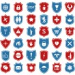 Vector set of shield icons — 图库矢量图片