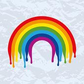 Rainbow eski kağıt üzerinde vektör simgesi — Stok Vektör