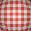 Vector 3d red picnic tablecloth background — Stock vektor