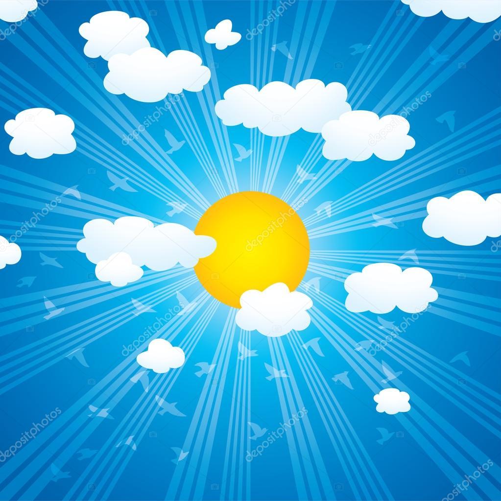 Небо на фотографии и в анимации красивые картинки облаков