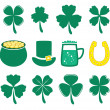 Vector set of St. Patrick's Day icons — Stock Vector