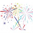 Vector abstract  bursting fireworks  — Stock Vector #41249155