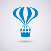 Vector hot air balloon icon — Stock Vector