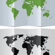 Abstract world map on folded paper — Stock Vector #7276651