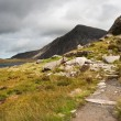 Landscape over Llyn Idwal towards Pen-yr-Ole-Wen in Snowdonia Na — Foto Stock