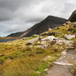 Landscape over Llyn Idwal towards Pen-yr-Ole-Wen in Snowdonia Na — Stockfoto