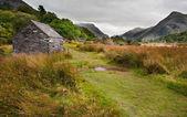 View along Llanberis Pass towards Glyder Fawr and Snowdon — Stock Photo