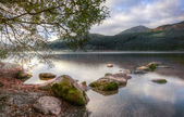 Landscape over Llyn Cwellyn in Snowdonia National Park towards m — Stock Photo