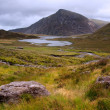 Landscape over Llyn Idwal towards Pen-yr-Ole-Wen in Snowdonia Na — Stok fotoğraf