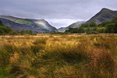 View along Llanberis Pass towards Glyder Fawr and Snowdon — Stock Photo