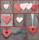 Compilation collage of various Valentine's Day hearts — Stock Photo