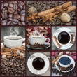Collage of coffee and caffeine related images — Stock Photo #17854973