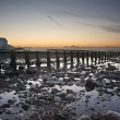 Low tide sunrise at Seven Sisters — Stock Photo