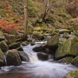 Burbage Brook flowing through Padley Gorge in Peak District — Stock Photo