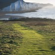 Path along Seaford Head towards Seven Sisters — Stock Photo