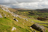 View from Norber Erratics down Wharfe Dale in Yorkshire Dales Na — Stock Photo