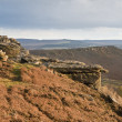 View along Curbar Edge towards Froggatt&#039;s Edge in background, in - Stock Photo