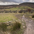 Stock Photo: Footpath from Kinder Scout to Kinder Low in Peak District Nation