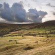 Stock Photo: Kinder Low and Brown Knoll in Peak District National Park