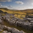 View towards Malham Moor from Pennine Way in Yorkshire Dales Nat — Stock Photo
